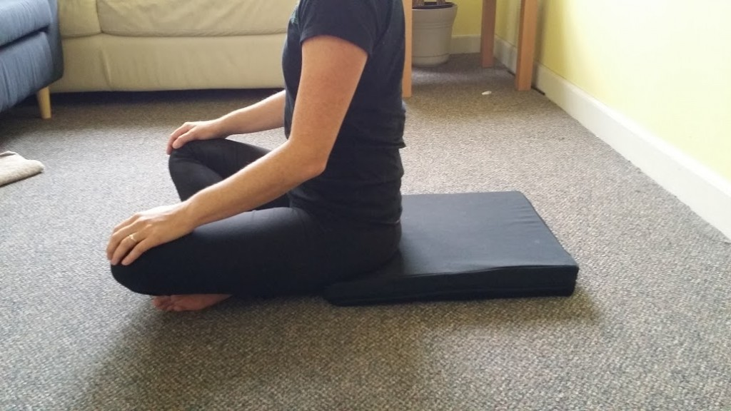 crisscross sitting on a pad